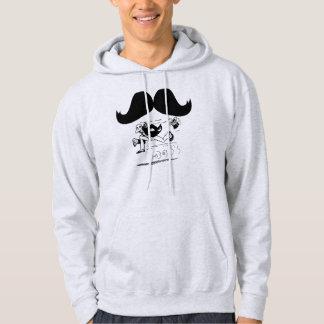 Funny Mustache & Man Running Hoodie