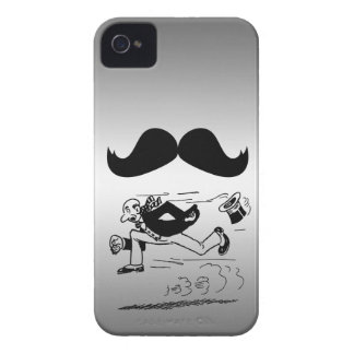 Funny Mustache & Man Running iPhone 4 Cover