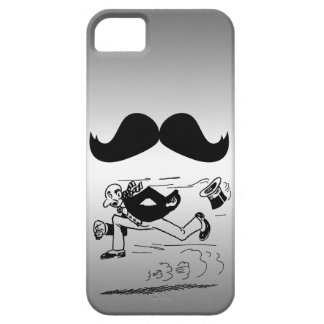 Funny Mustache & Man Running iPhone 5 Covers