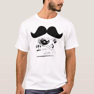 Funny Mustache & Man Running T-Shirt