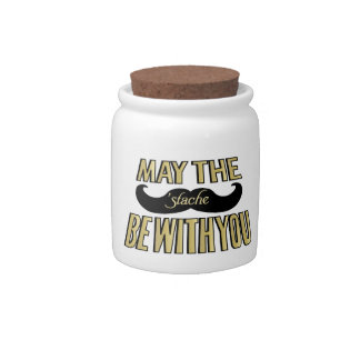 Funny Mustache - May the Stache be with you Candy Jars