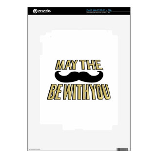 Funny Mustache- May the stache be with you Decal For The iPad 2