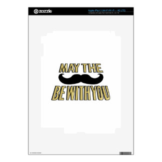 Funny Mustache- May the stache be with you iPad 3 Decals