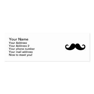 Funny Mustache Mini Business Card
