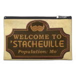 Funny Mustache Mo Welcome Sign Travel Accessories Bag