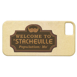Funny Mustache Mo Welcome Sign iPhone SE/5/5s Case