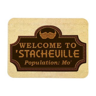 Funny Mustache Mo Welcome Sign Magnet