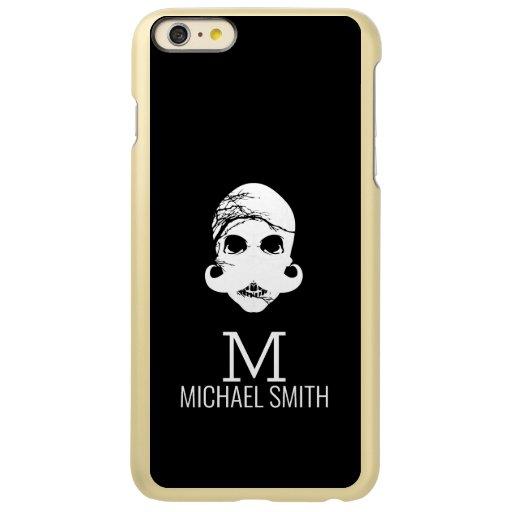 Funny Mustache Monogram Incipio Feather Shine iPhone 6 Plus Case