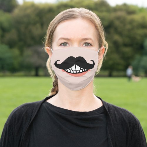 Funny Mustache Mouth Cloth Face Mask
