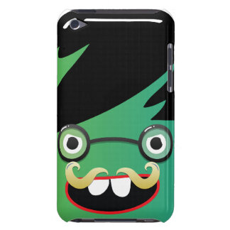 funny mustache nerdy geek face guy iPod touch cover