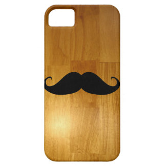 Funny Mustache on Shiny Wood Texture Background iPhone SE/5/5s Case