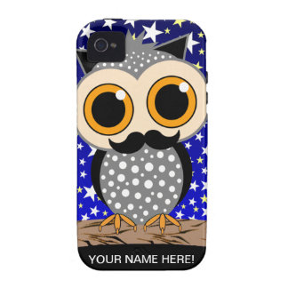 funny mustache owl iPhone 4/4S cases