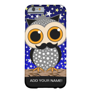 funny mustache owl barely there iPhone 6 case