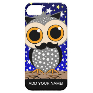 funny mustache owl iPhone 5 cover