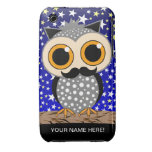funny mustache owl iPhone 3 Case-Mate cases