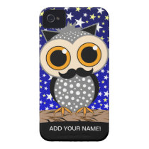 funny mustache owl iPhone 4 cover