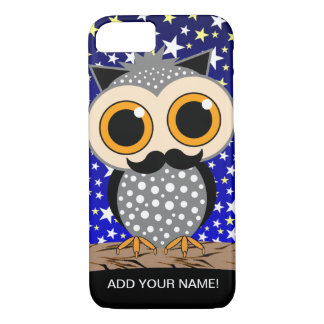 funny mustache owl iPhone 7 case