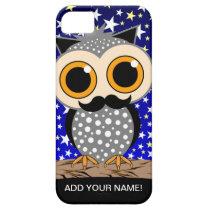 funny mustache owl iPhone SE/5/5s case