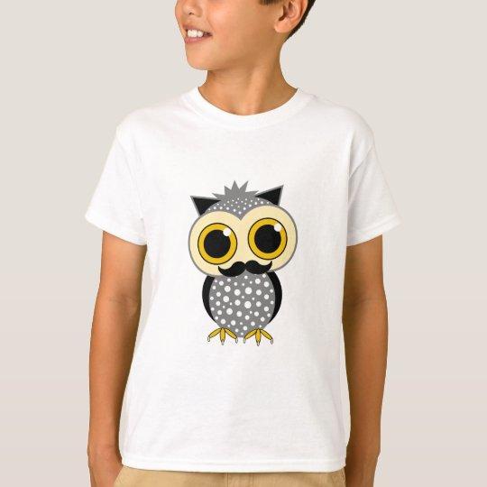 funny mustache owl T-Shirt