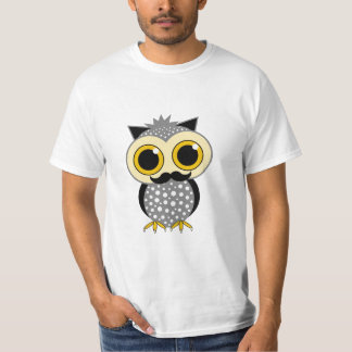 funny mustache owl T-Shirt