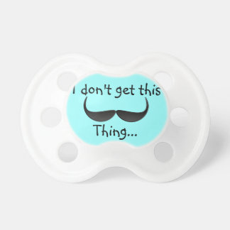Funny Mustache Pacifier for baby boys