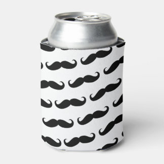 Funny mustache pattern can cooler
