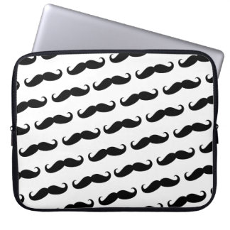 Funny mustache pattern computer sleeve