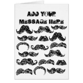 Funny Mustache pattern for men Card