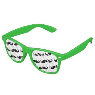 Funny mustache pattern wayfarer sunglasses