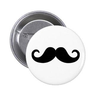 Funny Mustache Pinback Button