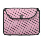 Funny mustache pink black pattern MacBook pro sleeves