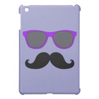FUNNY MUSTACHE PURPLE SUNGLASSES iPad MINI CASE
