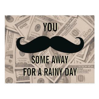 Funny Mustache Retirement Planning Postcards