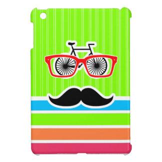 Funny Mustache; Retro Neon Rainbow Cover For The iPad Mini
