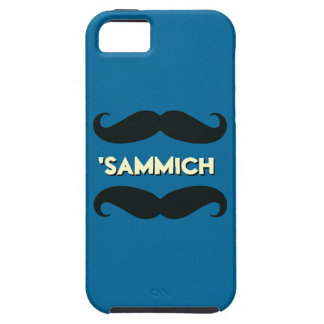 Funny Mustache Sandwich iPhone 5 Case (Blue)