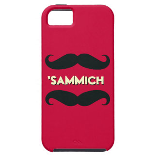 Funny Mustache Sandwich Much iPhone 5 Case