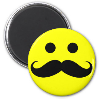 Funny Mustache Smiley Face Magnets
