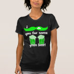 funny mustache St Patrick's Day T Shirt
