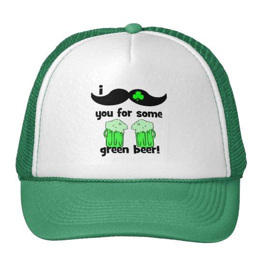 funny mustache St Patrick's Day Trucker Hat