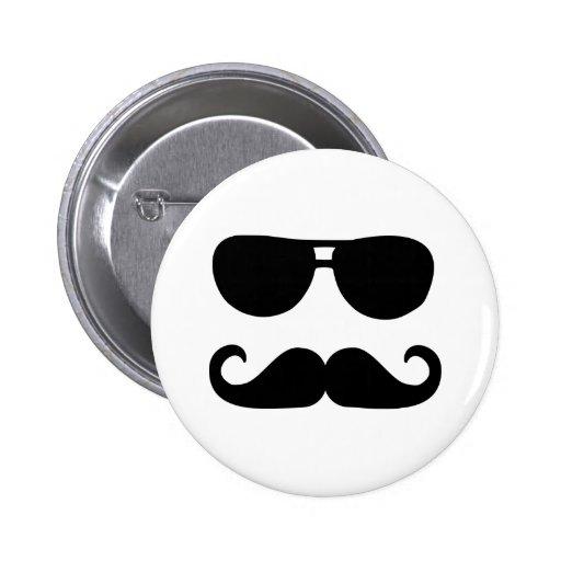 Funny Mustache sunglasses 2 Inch Round Button