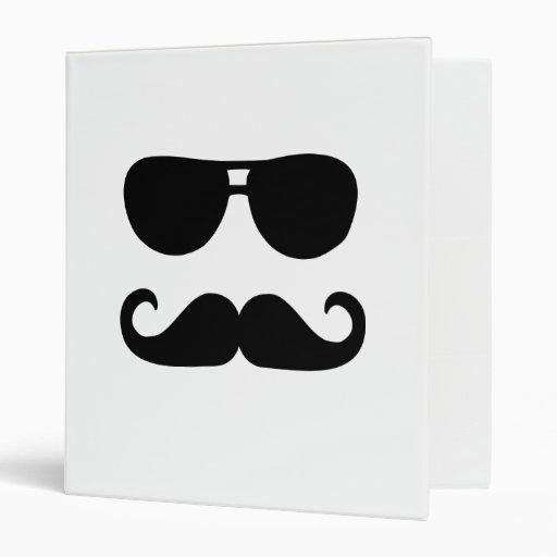 Funny Mustache sunglasses Binder