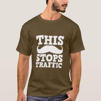 Funny Mustache T-Shirt Stops Traffic