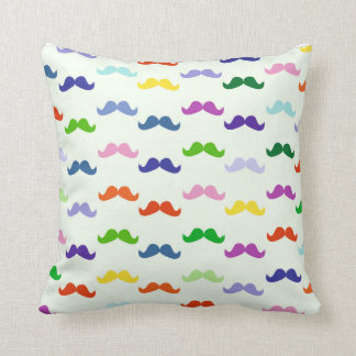 Funny Mustache Throw Pillow