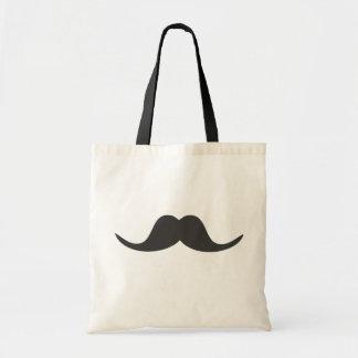 funny mustache v1 tote bag