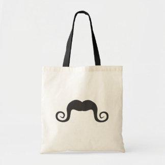 funny mustache v4 tote bag