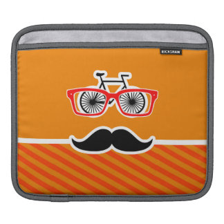 Funny Mustache with Orange Stripes Sleeves For iPads