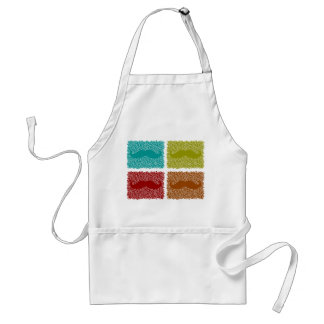 Funny Mustaches Adult Apron