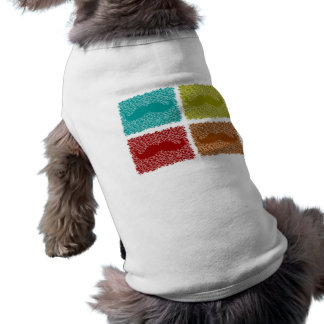 Funny Mustaches Doggie Tee Shirt