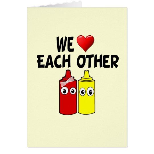 Funny Mustard Ketchup Couple Card