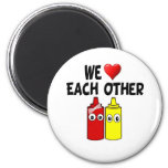 Funny Mustard Ketchup Couple Magnet